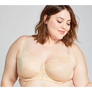 Lane Bryant Lace Unlined Full Coverage Bra 46DDD